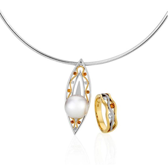 Gold, Diamond And Pearl Jewellery Sets