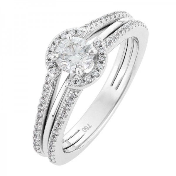 Stunning 3 Band Diamond Engagement Ring Australia