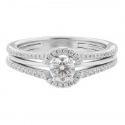 Round Halo Diamond Engagement Ring - The Adele