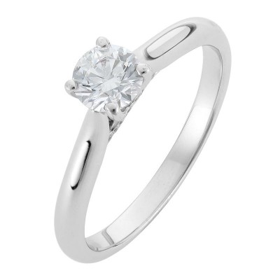 Round Solitaire Diamond Engagement Ring - The Alalahe