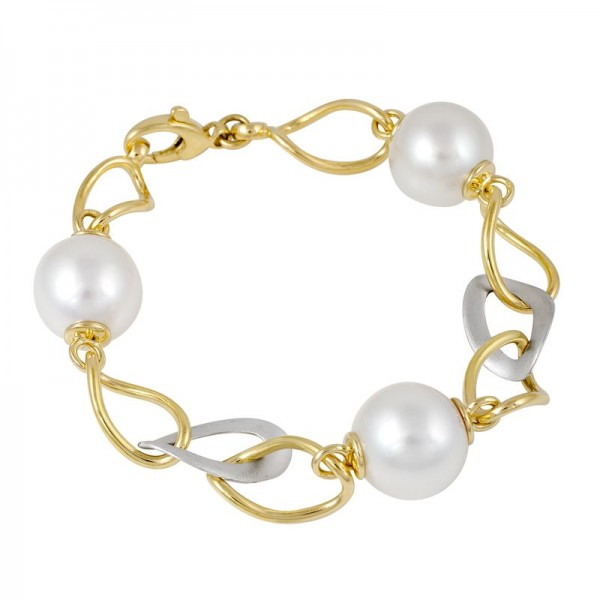 Broome Pearl Bracelet In Yellow Gold - The Atlantis