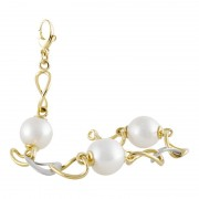 Yellow Gold Pearl Bracelet - The Atlantis