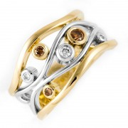 Gold and Champagne Diamond Ring - The Berkley River