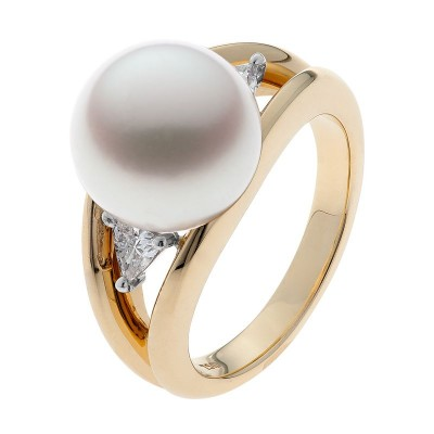 Gold And Broome Pearl Ring - The Bermuda
