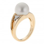 South Sea Pearl Ring In Yellow Gold - The Bermuda