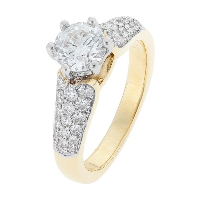 1 Carat Diamond Ring In Yellow Gold - The Claire