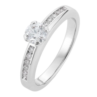 Modern White Gold Diamond Engagement Ring - The Coco