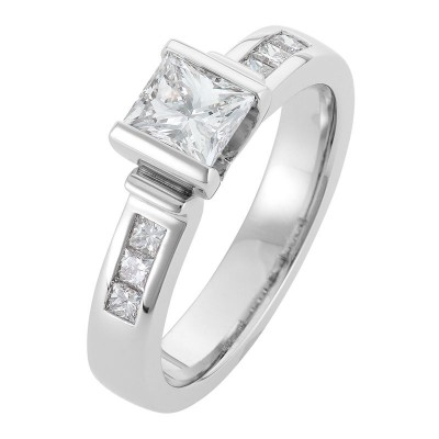 Platinum Diamond Engagement Ring - The Desiree