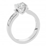 Side View Platinum Diamond Engagement Ring - The Desiree