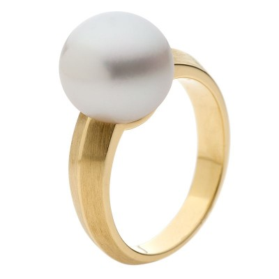 Pearl and Yellow Gold Ring Australia - The Echo