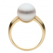South Sea Pearl Ring In Yellow Gold - The Echo