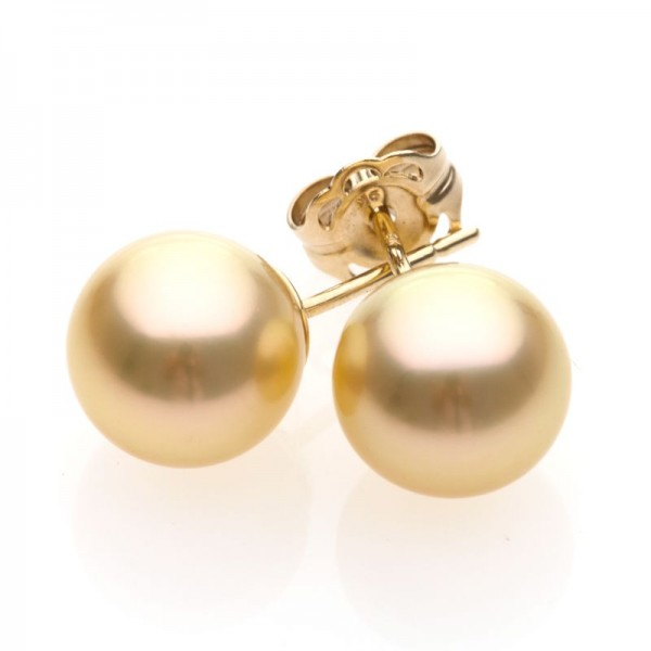 Gold South Sea Pearl Stud Earrings