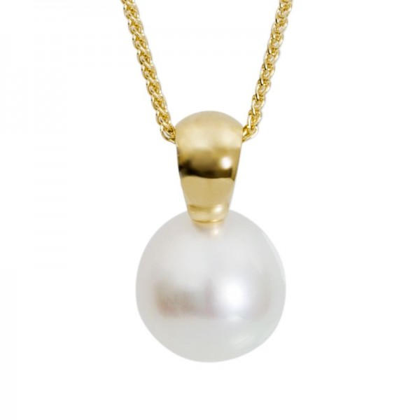 Pearl and Yellow Gold Pendant - The Grande Soho