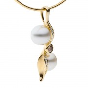 Kimberley Diamond and Pearl Pendant - The Kimberley Zephyr