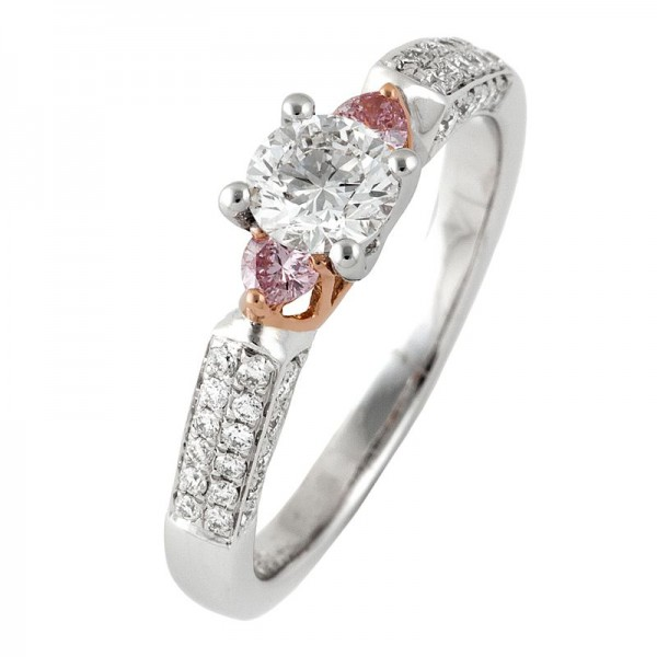 Pink Diamond Ring In White Gold - The Melody
