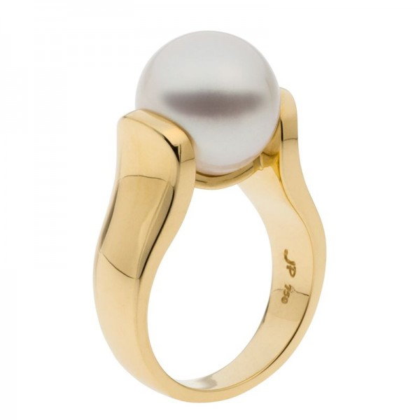 South Sea Pearl Ring In Yellow Gold - The Persian
