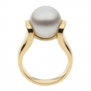 Yellow Gold Ring With Broome Pearl - The Persian