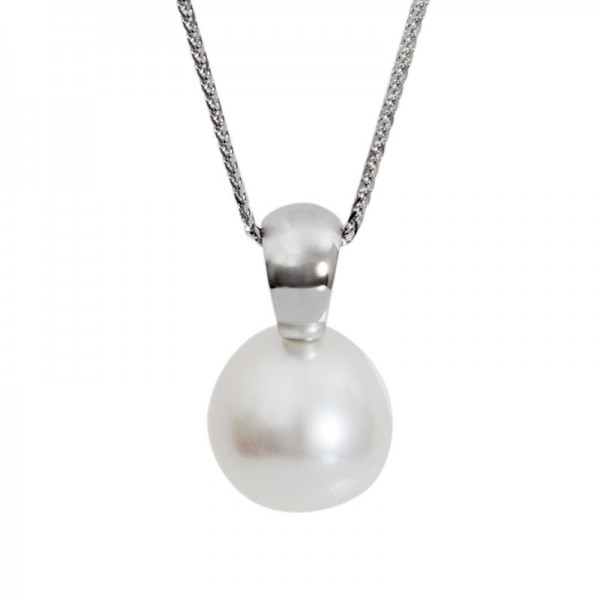 South Sea Pearl Pendant In White Gold - The Petite Soho