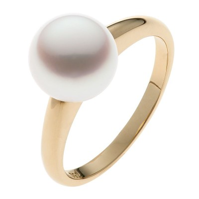 South Sea Pearl Ring - The Petite Soho in Yellow Gold