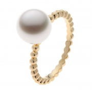 Gold Ring With Broome South Sea Pearl - The Polka Dot