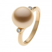 Gold Pearl Ring - The Solar