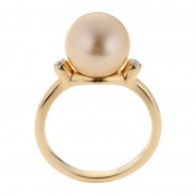 Gold South Sea Pearl Ring In 18ct Yellow Gold - The Solar