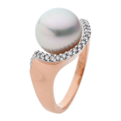 Rose Gold Ring With South Sea Pearl - The Stella