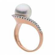 Pearl Diamond And Rose Gold Ring Australia - The Stella
