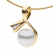 South Sea Pearl And Yellow Gold Pendant - The Tranquil Bay