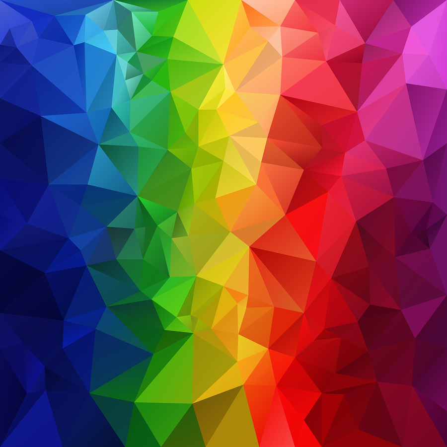 Vector Polygonal Background Pattern - Triangular Design In Full
