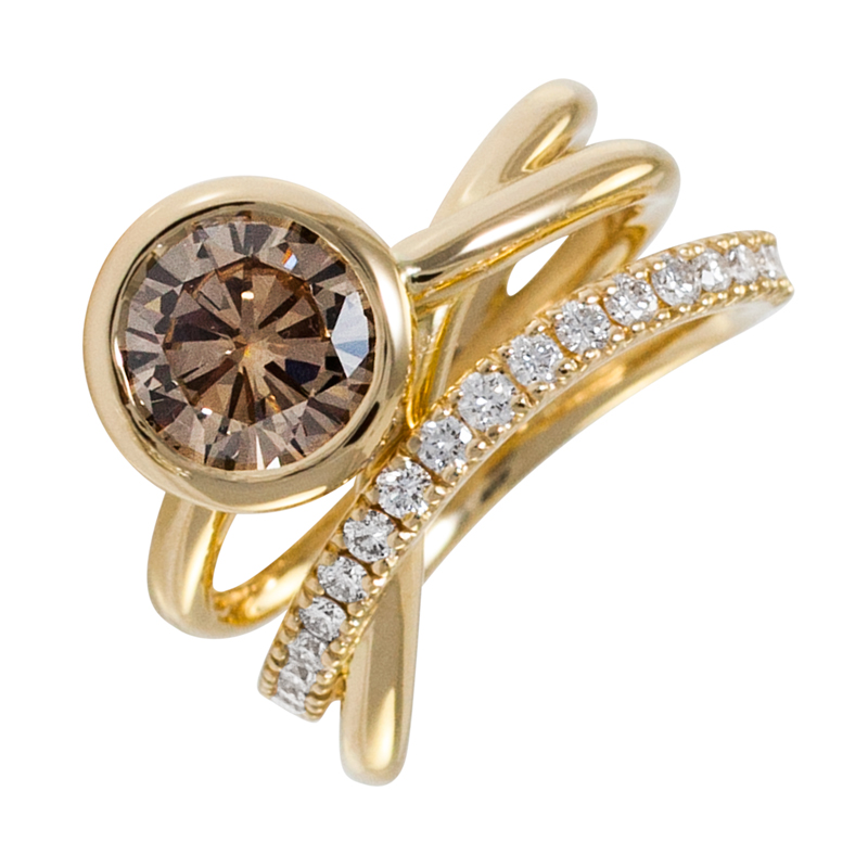 yellow-gold-champagne-diamond-ring-spinifex