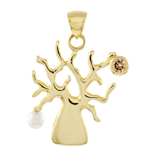 Boab Tree Pendant Yellow Gold