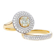 Yellow Diamond Wedding Ring Set - The Evelyn