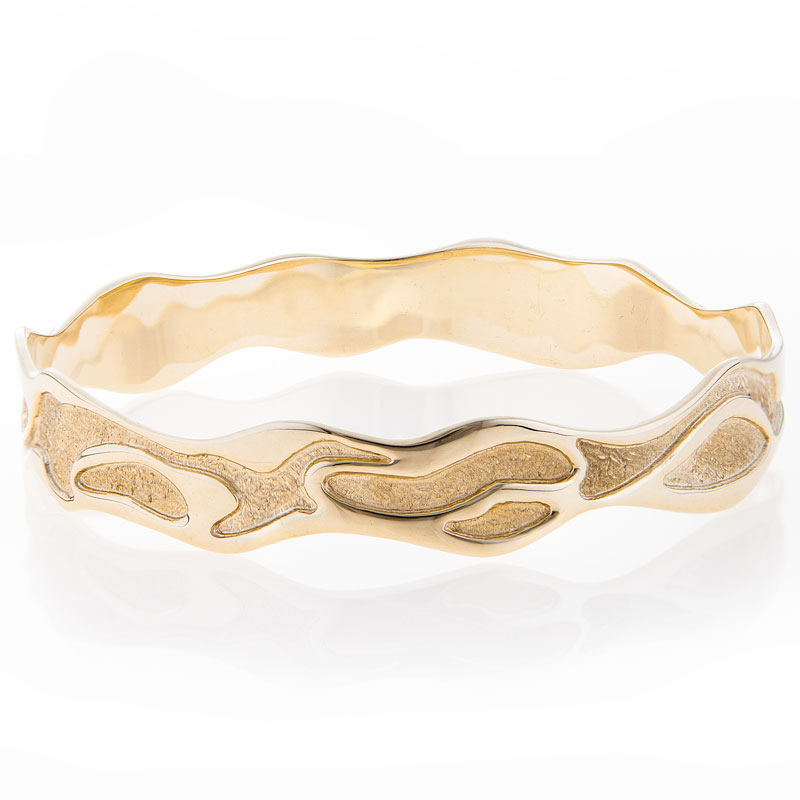 Stunning Gold Freeform Bracelet - The Ebb and Flow