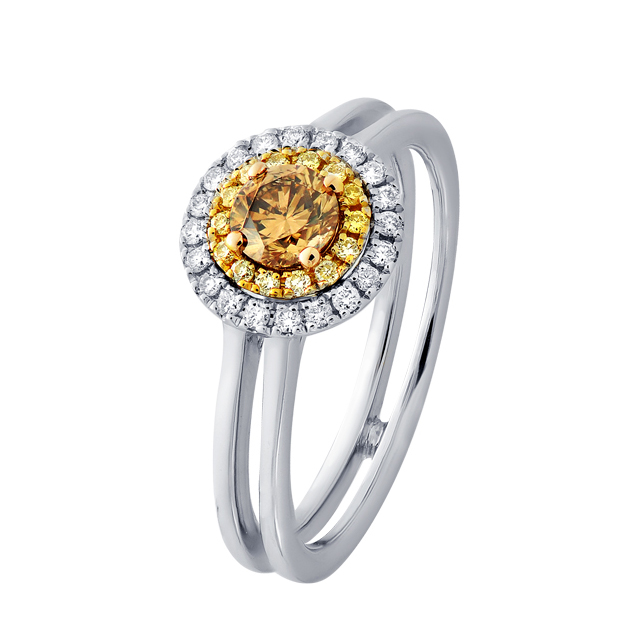 Yellow Champagne Diamond Engagement Ring - The Keilani
