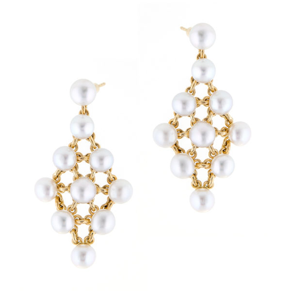 South Sea Keshi Pearl Earrings With 18CT Gold - Duchess