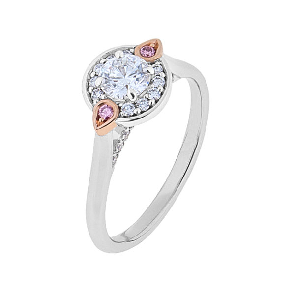 18CT White and Rose Gold Diamond Ring - The Rosa