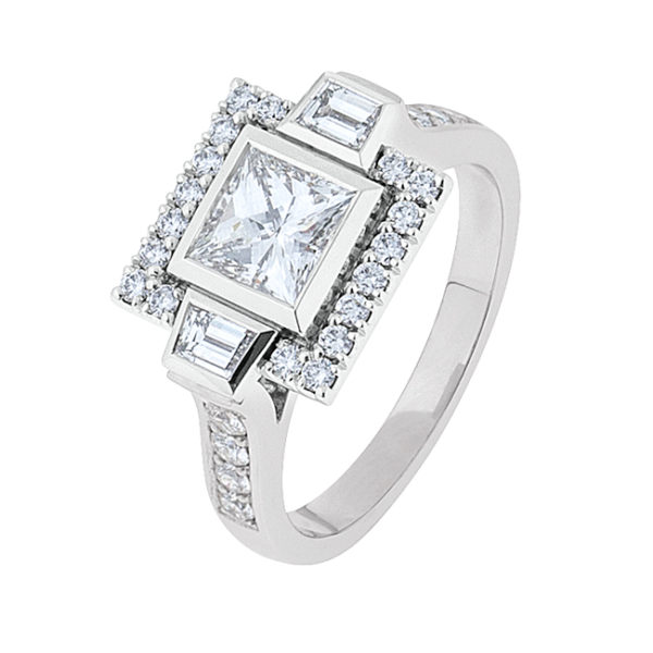 Princess Cut Diamond Engagement Ring - The Zara