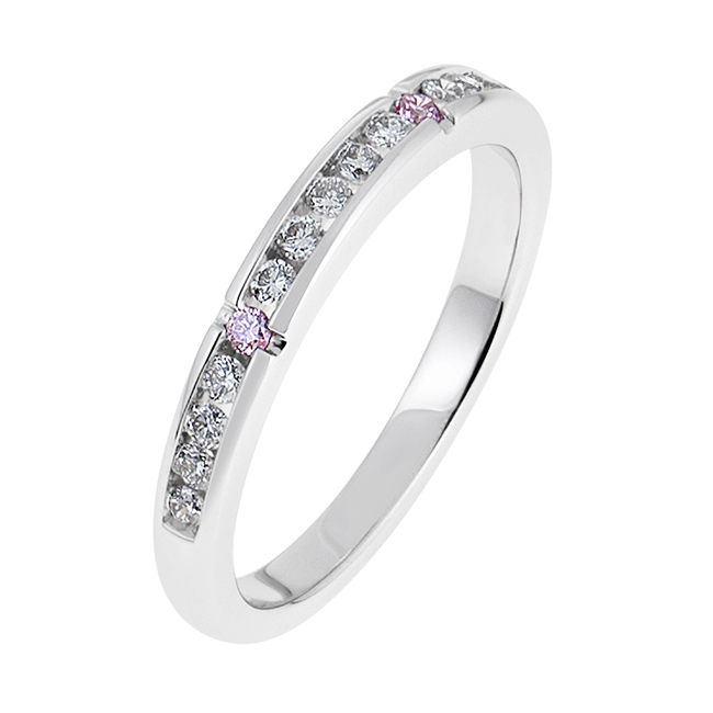 White-Gold-Pink-Diamond-Wedding-Band