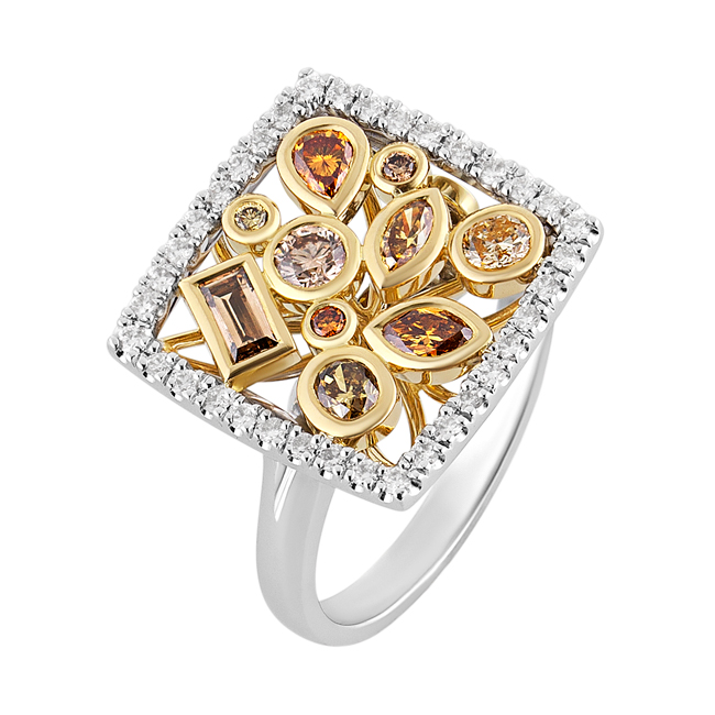 Two-Tone-Alluvial-Cocktail-Ring-Fancy-Coloured-Diamonds-Cushion-Halo