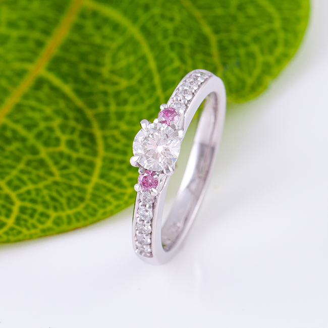 Yvette Pink Diamond Engagement Ring Jewels Of The Kimberley